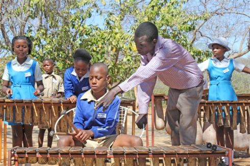 the marimba class in the Academy grounds ...